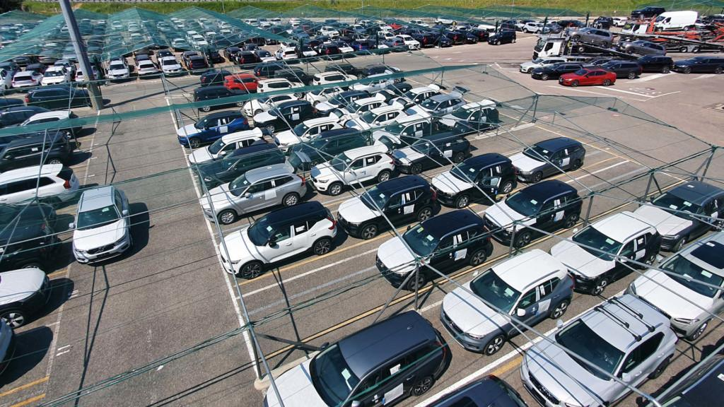 Cars on parking lot